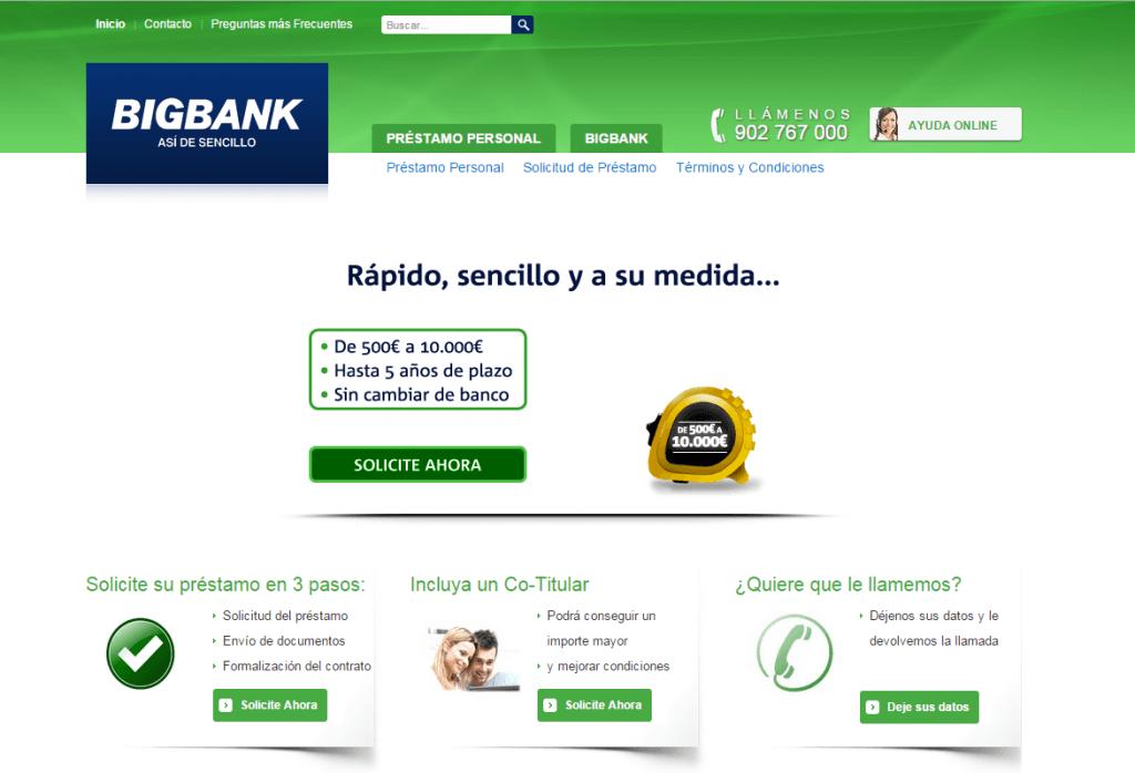 prestamo rapido online con Bigbank