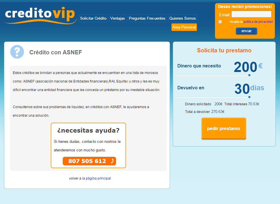 creditovip creditos con asnef