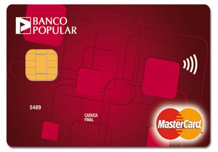 Tarjeta Contactless Banco Popular