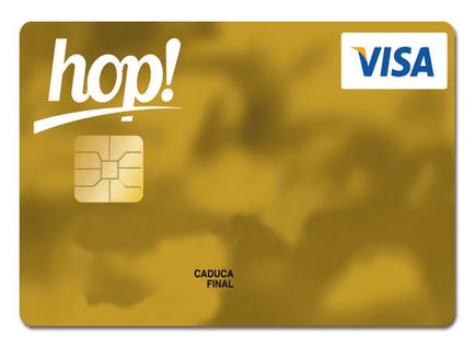 Tarjeta Visa Hop del Banco Popular