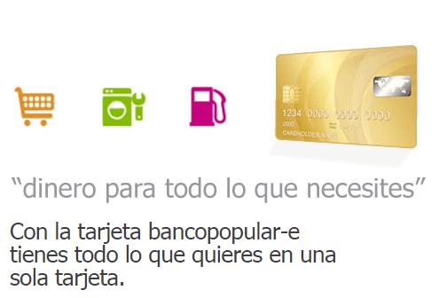 Tarjeta bancopopular-e