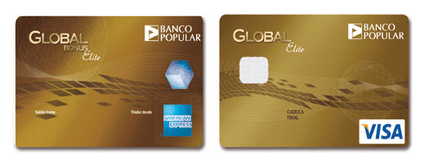 Tarjetas global ELITE del Banco Popular