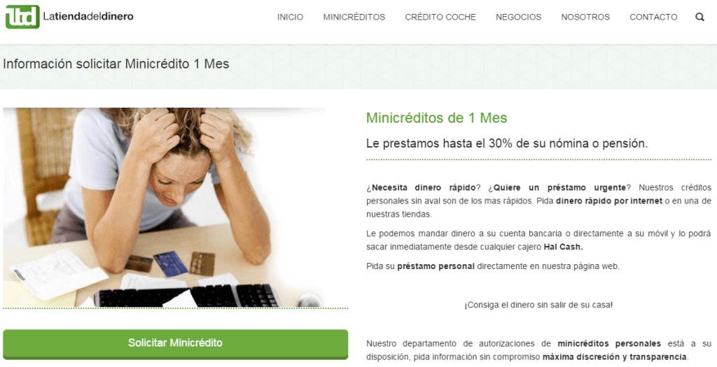 Minicreditos de un mes con Latiendadeldinero.com