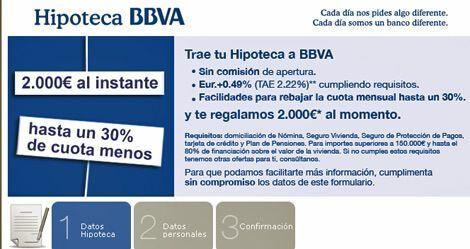 BBVA Mejores Créditos Para Hipotecas
