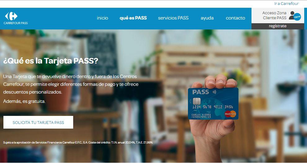 tarjeta pass Mastercard de Carrefour