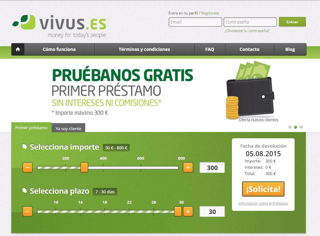microprestamos al instante con Vivus