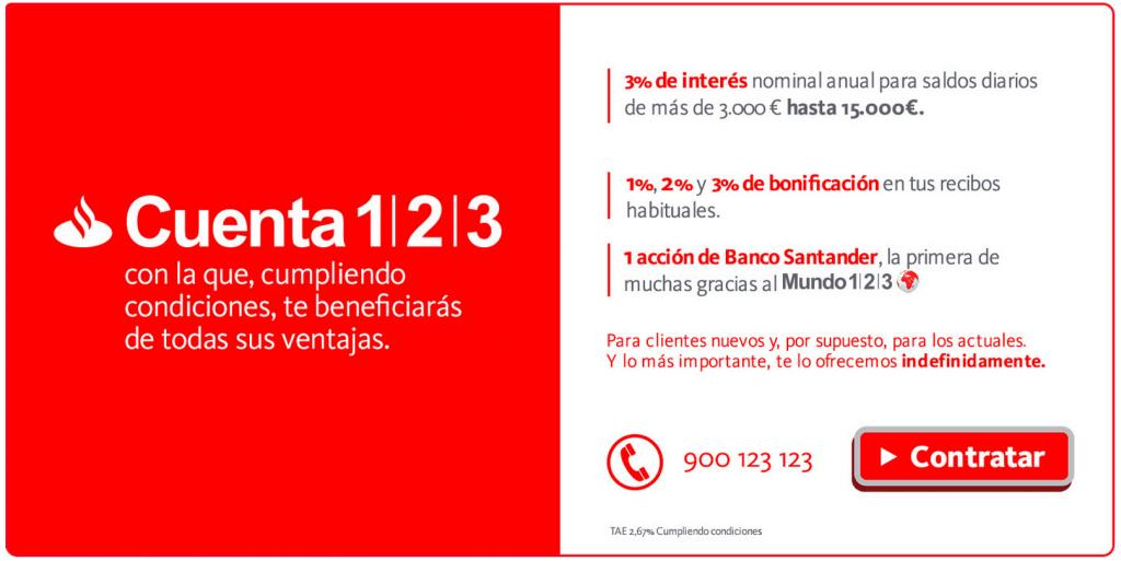 La Cuenta 123 Del Banco Santander