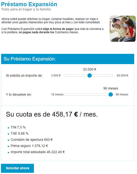Préstamo Expansión Sabadell