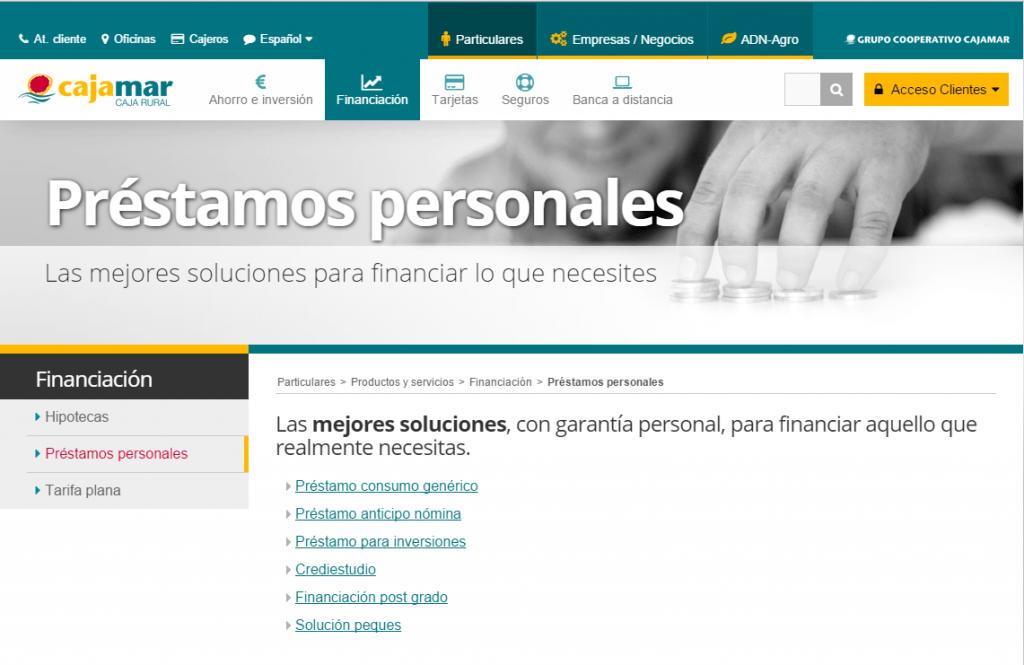 cajamar.es Préstamos Personales