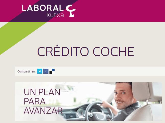 credito coche Laboral Kutxa