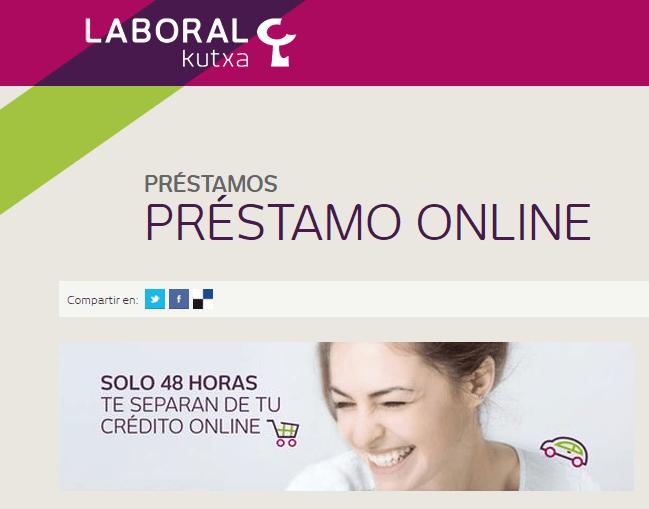 prestamo online Laboral Kutxa