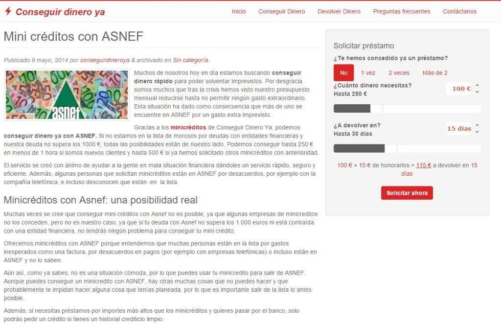 Conseguirdineroya.com - Dinero Fácil Y Seguro Y con ASNEF