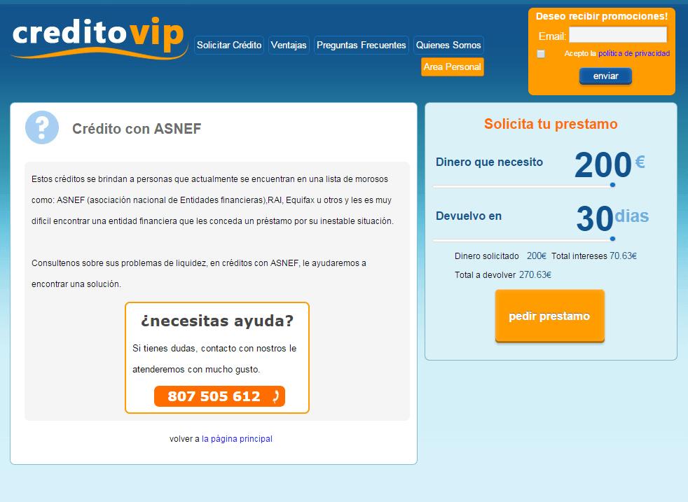 creditovip.com credito asnef rapido