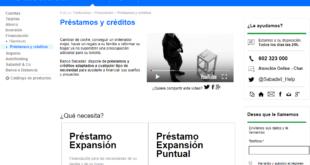 prestamos y créditos personales del Banco Sabadell