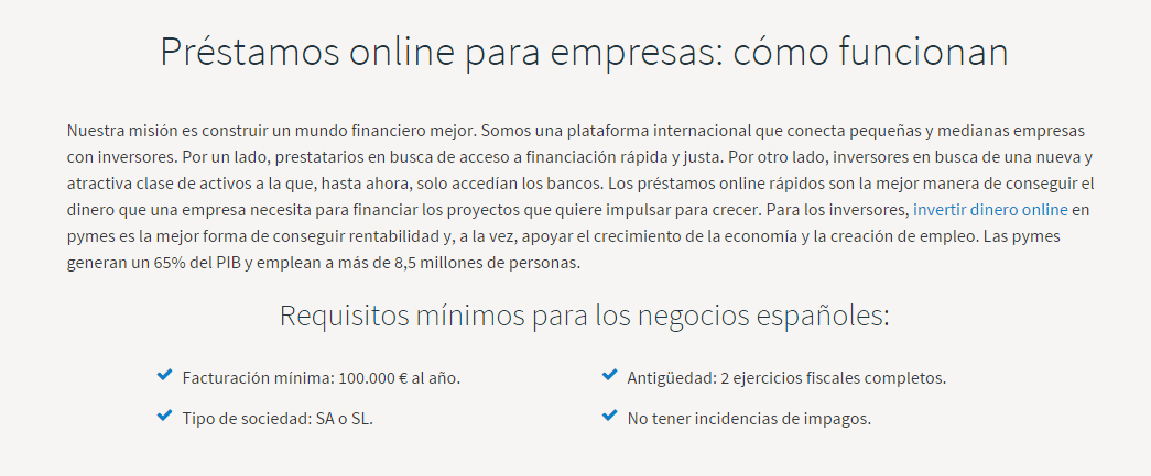fundingcircle.com Requisitos