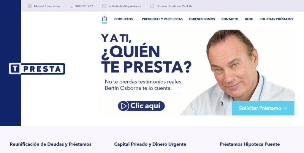 T-Presta préstamos con garantía hipotecaria sin importar ASNEF o RAI