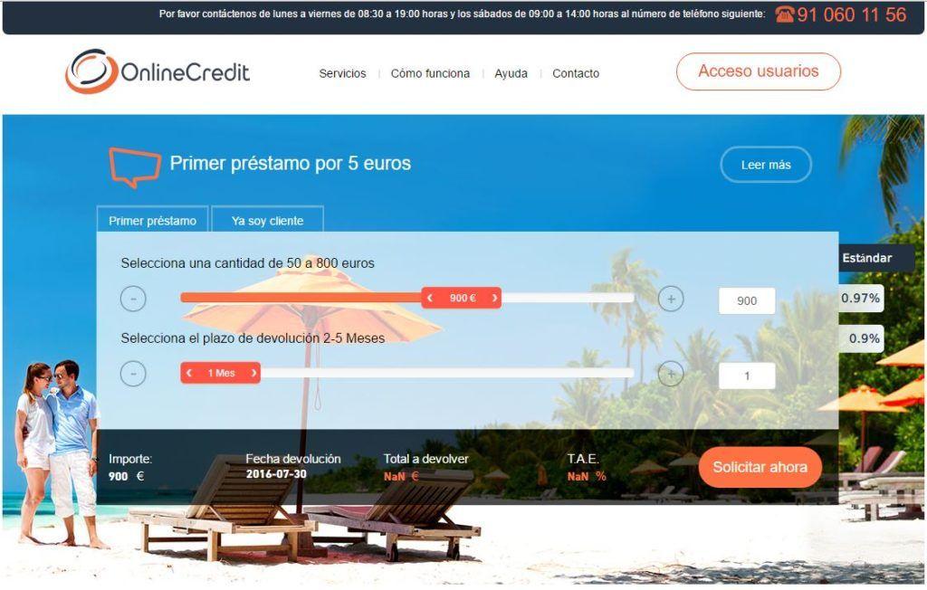 Onlinecredit - Créditos y préstamos con asnef (Primer préstamo por solo 5 euros)