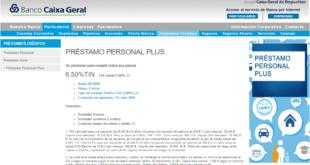 préstamos personales Banco Caixa Geral Online
