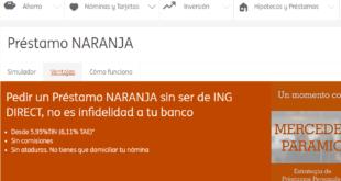 Prestamos ING DIRECT Online