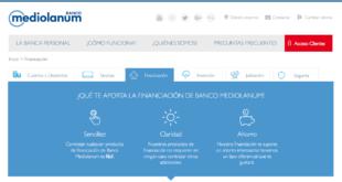 prestamos de Banco Mediolanum Online