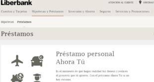 préstamos personales Liberbank Online