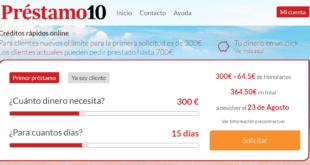 Prestamo10.com - Solicita Créditos rápidos y urgentes