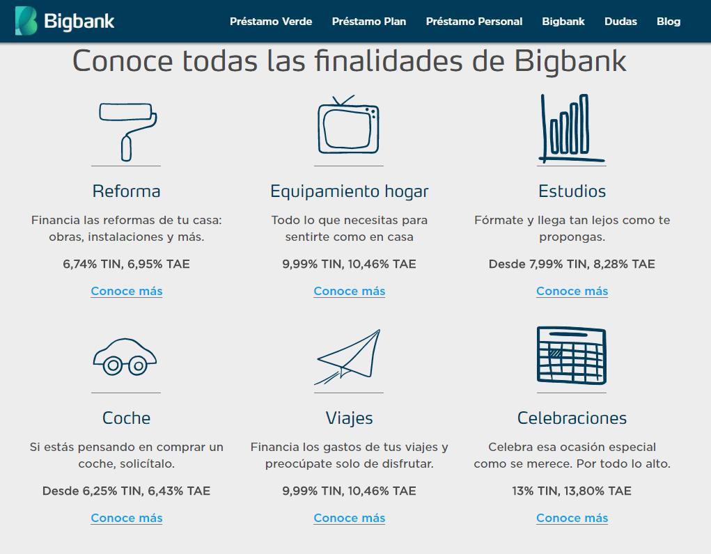 Prestamos Plan deBigbank
