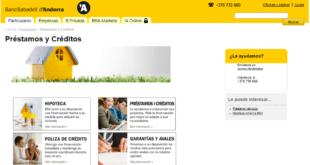 creditos y Préstamos BancSabadell d'Andorra Online