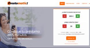 Prestomatic - Solicita prestamos pequeños de hasta 300€