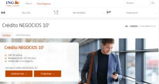Crédito Negocios 10 para empresas y autónomos ING