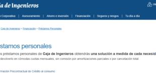 Créditos y Préstamos Caja De Ingenieros Online